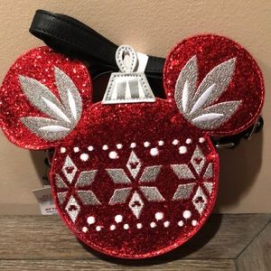 Disney Holiday Mickey Mouse ornament crossbody